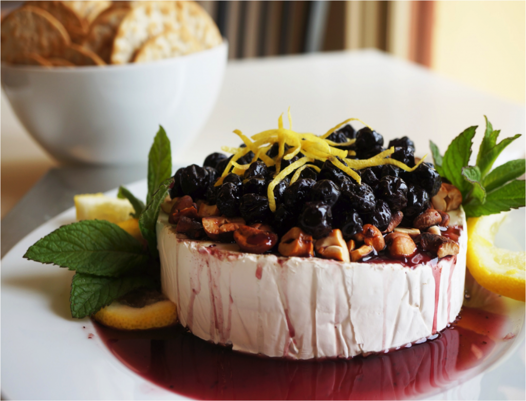 Brie-with-Blueberry-Sauce